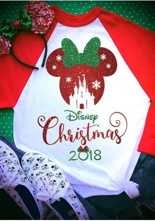 Christmas 2018 Mouse Baseball T-Shirt