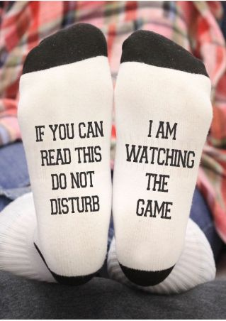I am Watching The Game Socks
