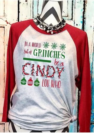 Grinches Be A Cindy Baseball T-Shirt