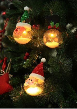 Christmas Santa Snowman Elk Luminous Ball