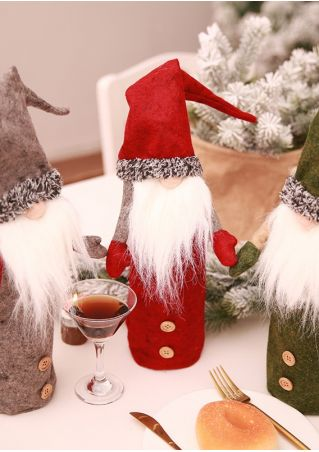 Christmas Nisse Gnome Wine Bottle Cover
