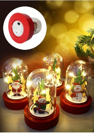 Christmas Wooden Santa LED Light Decoration