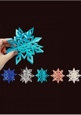 6Pcs/Set Christmas Snowflake Hanging Decoration