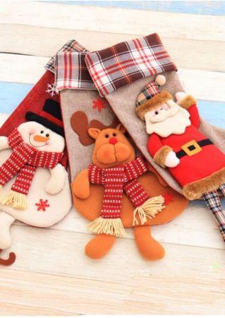Christmas Santa Snowman Sock