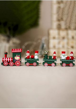 Christmas Santa Wooden Train