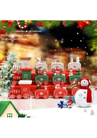 Christmas Santa Wooden Train