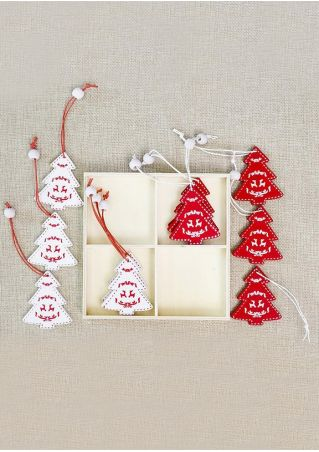Christmas Tree Bell Deer Pendant Set