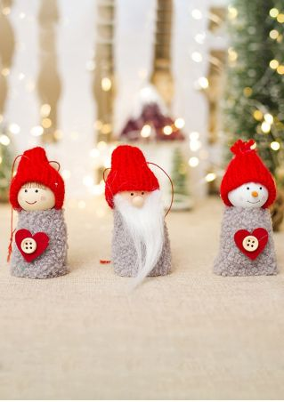 3Pcs Christmas Doll Hanging Pendant