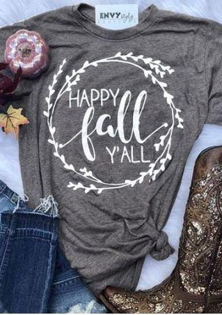 Happy Fall Y'all Branch T-Shirt