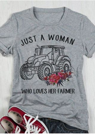 Loves Her Farmer Tractor T-Shirt