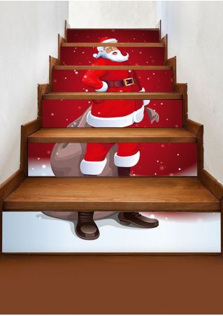 Christmas Santa Stair Sticker Set