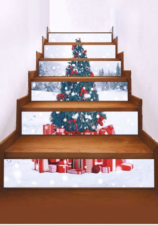Christmas Tree Stair Sticker Set