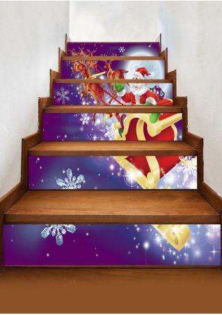 Christmas Santa Stair Sticker Set