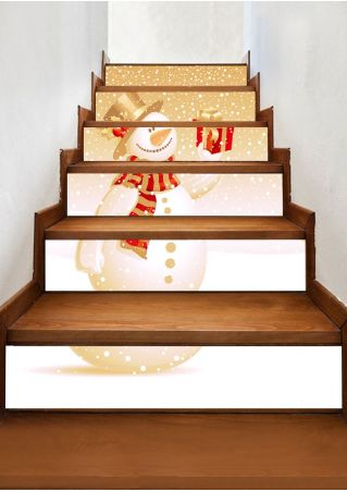 Christmas Snowman Stair Sticker Set