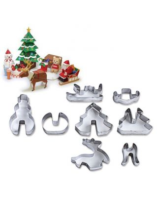 8Pcs Christmas Cookie Mould