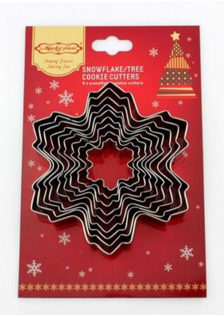 9Pcs Christmas Snowflake Cookie Mould