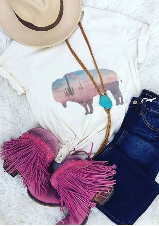 Buffalo Printed Short Sleeve T-Shirt