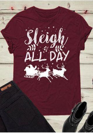 Christmas Sleigh All Day T-Shirt