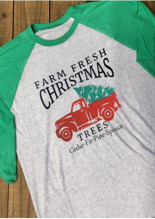 Farm Fresh Christmas Trees Baseball T-Shirt