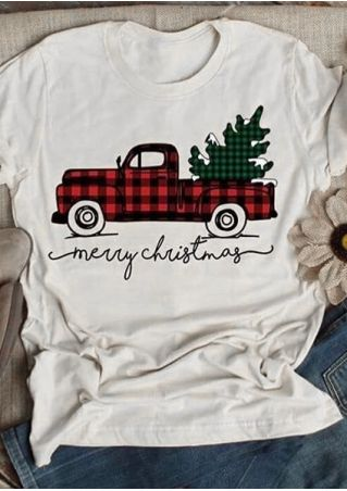 Merry Christmas Tree Car T-Shirt