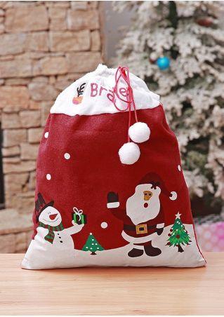 Santa Snowman Pumpon Gift Bag
