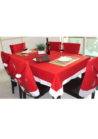 Christmas Tablecloth and Chair Cover Set