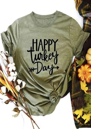 Happy Turkey Day Arrow T-Shirt