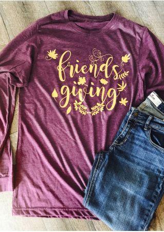 Friends Giving Leaf Long Sleeve T-Shirt