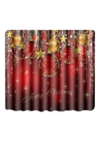 Merry Christmas Star Shower Curtain