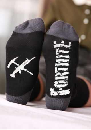 Fortnite Gun Hammer Printed Socks