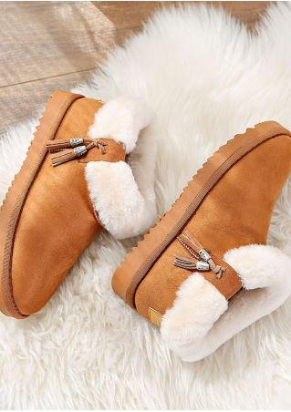 Tassel Faux Fur Snow Boots