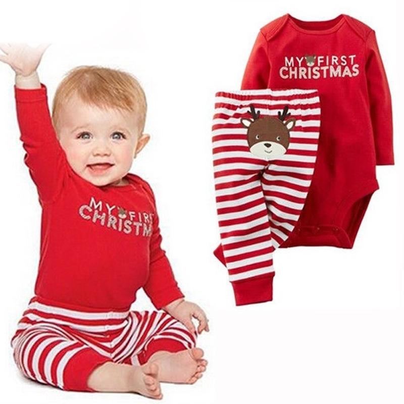 Kids My First Christmas Bodysuit and Pants Set