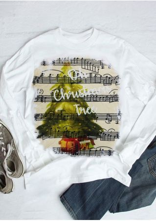 Oh Christmas Tree Music Note Sweatshirt