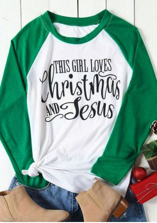Loves Christmas And Jesus Baseball T-Shirt