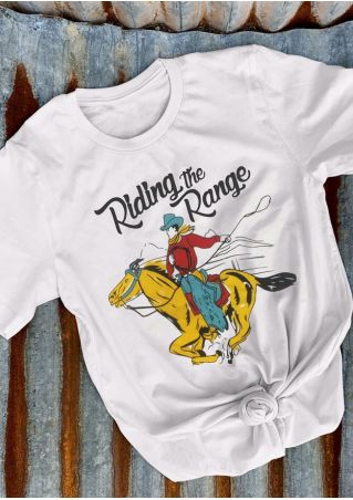 Riding The Range Cowboy T-Shirt