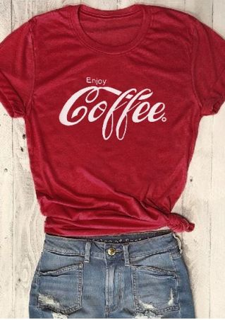 Enjoy Coffee Short Sleeve T-Shirt