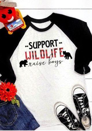 Wildlife Raise Boys Baseball T-Shirt