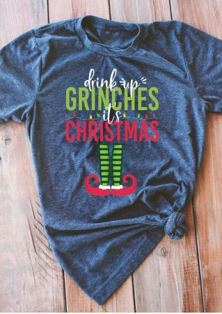 Drink Up Grinches Christmas T-Shirt