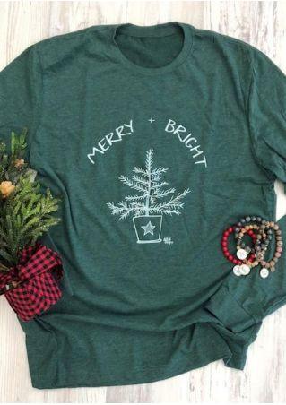 Merry Bright Christmas Tree T-Shirt