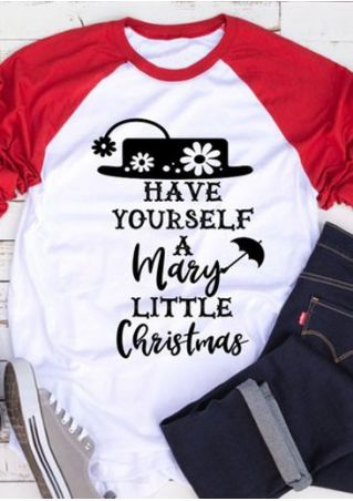 Mary Little Christmas Baseball T-Shirt