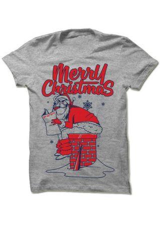 Merry Christmas Santa O-Neck T-Shirt
