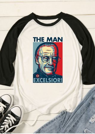 The Man Excelsior Baseball T-Shirt