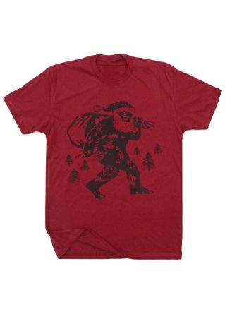 Santa Christmas Tree O-Neck T-Shirt