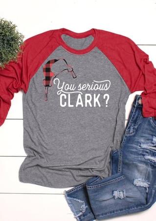 Christmas You Serious Clark Baseball T-Shirt Tee