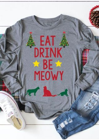 Eat Drink Be Meowy T-Shirt