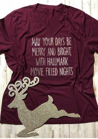 Merry And Bright With Hallmark T-Shirt