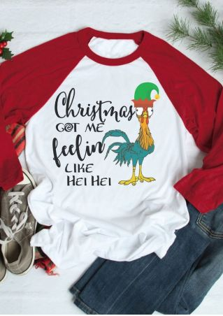 Christmas Got Me Hei Hei Baseball T-Shirt