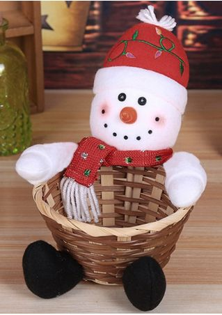Snowman Candy Storage Basket