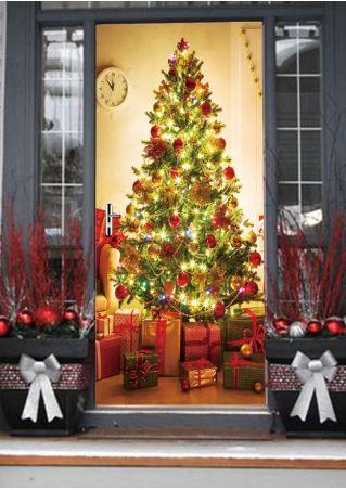 Christmas Tree Door Sticker