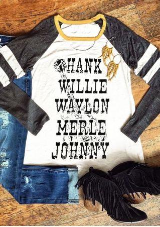 Waylon Merle Johnny Baseball T-Shirt